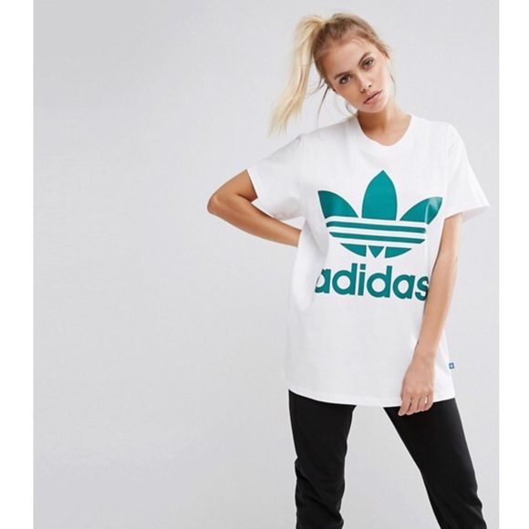Adidas Originals Big Trefoil White Sub Green Tee M b661aeb16